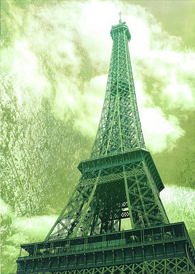 Photograph - Le 58 Tour Eiffel Greens by JAMART Photography
