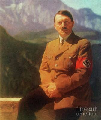 Adolf Painting - Leaders Of Wwii - Adolf Hitler by John Springfield