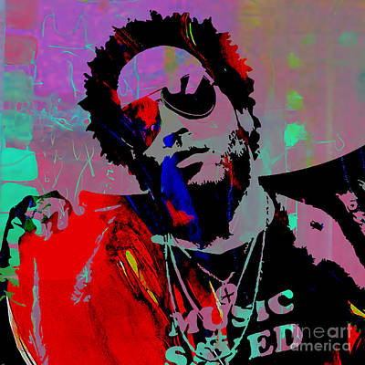 Mixed Media - Lenny Kravitz Collection by Marvin Blaine