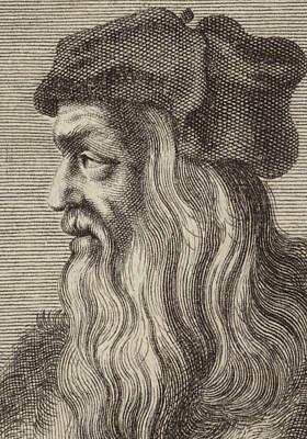 Drawing - Leonardo Da Vinci by English School