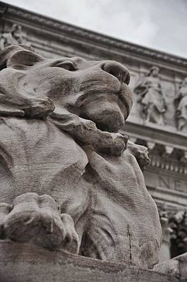 Photograph - Nyc Library Lion  by JAMART Photography