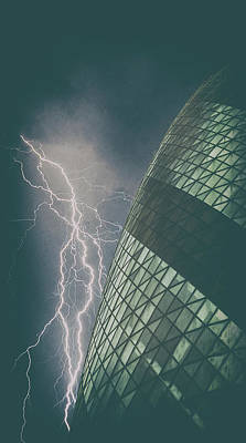 Pickles Photograph - Lightning Strike by Martin Newman