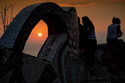 Digital Art - Lima Miraflores Lovers Park by Carol Ailles