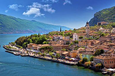 Photograph - Limone Sul Garda Waterfront View by Brch Photography