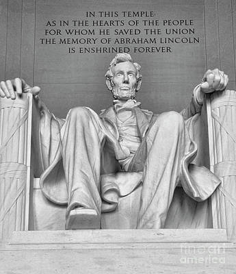Photograph - Lincoln Memorial # 2 by Allen Beatty