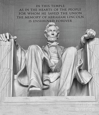 Photograph - Lincoln Memorial # 2 by Allen Beatty
