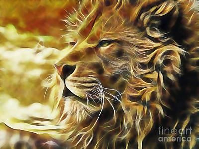 Lion Mixed Media - Lion by Marvin Blaine