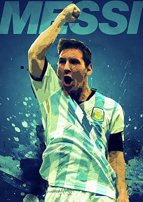 Soccer Digital Art - Lionel Messi by Semih Yurdabak