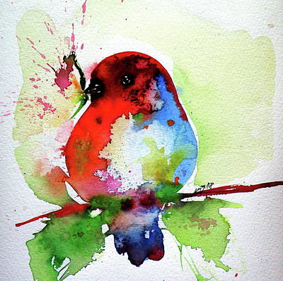 Painting - Little Bird by Kovacs Anna Brigitta