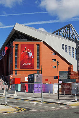 Liverpool Uk, 17th September 2016. Liverpool Football Club's New 114 Million Stand Nearing Completion Art Print