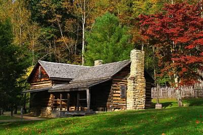 Photograph - Log Cabin by Kathryn Meyer