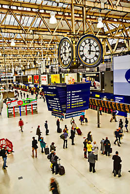 Photograph - London Waterloo Station by David French