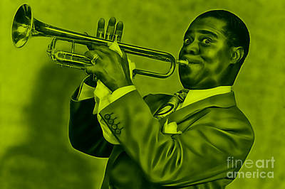 Louis Armstrong Mixed Media - Louis Armstrong Collection by Marvin Blaine