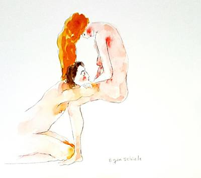 Drawing - Lovers  by Hae Kim