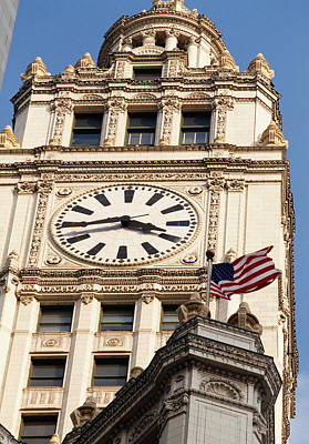 Low Angle View Of A Clock Tower Art Print by Panoramic Images