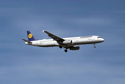 Mixed Media - Lufthansa Airbus A321-231 by Smart Aviation