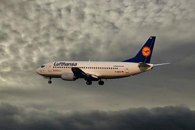 Jet Photograph - Lufthansa Boeing 737-300 by Smart Aviation