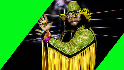 Macho Man Randy Savage Collection Art Print