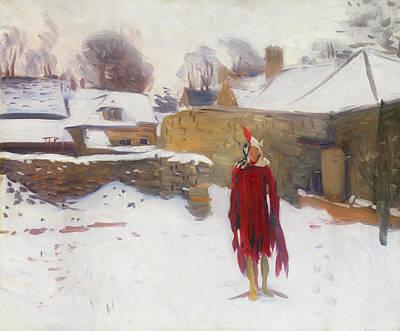 Mannikins Painting - Mannikin In The Snow by Mountain Dreams