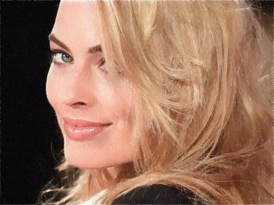 Grace Kelly Digital Art - Margot Robbie by Best Actors