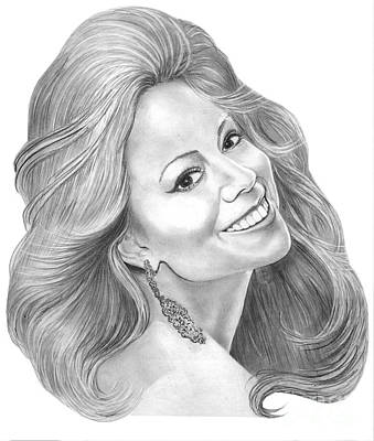 Mariah Carey Drawing - Mariah Carey  by Murphy Elliott