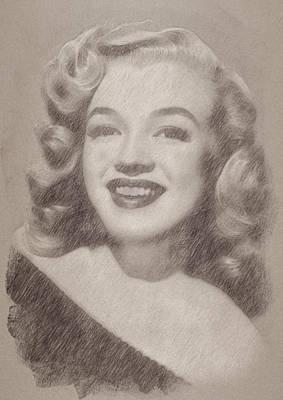 Celebrities Paintings - Marilyn Monroe by Esoterica Art Agency
