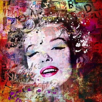 Gay Digital Art - Marilyn Monroe by Mark Ashkenazi
