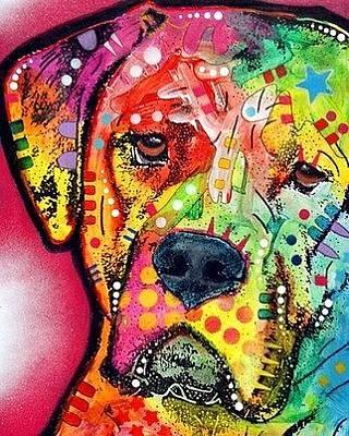 Mastiff Wall Art - Painting - Mastiff by Dean Russo