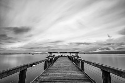 Photograph - Melbourne Beach Pier Sunset by Stefan Mazzola