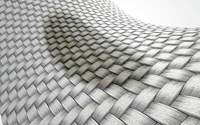 Soil Digital Art - Micro Fabric Weave Stain by Allan Swart
