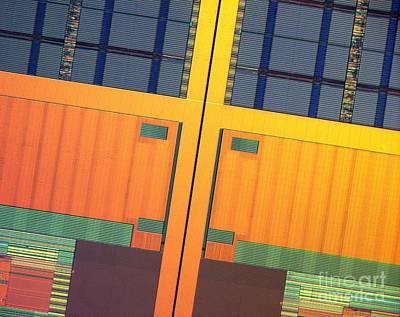Microchip Photograph - Microchip, Light Micrograph by Robert Markus