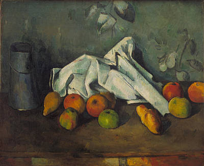 Painting - Milk Can And Apples by Paul Cezanne