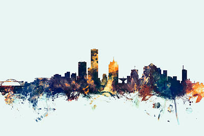 Landscape Digital Art - Milwaukee Wisconsin Skyline by Michael Tompsett