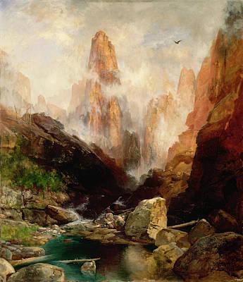 Canyon Painting - Mist In Kanab Canyon, Utah by Thomas Moran