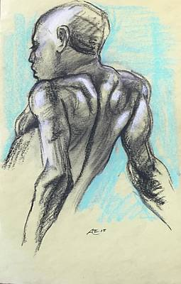 Drawing - Model From The Back by Alejandro Lopez-Tasso