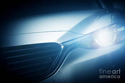 Elegant Photograph - Modern Luxury Car Close-up Background by Michal Bednarek