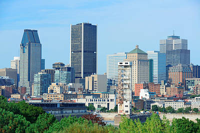 Photograph - Montreal City Skyline  by Songquan Deng