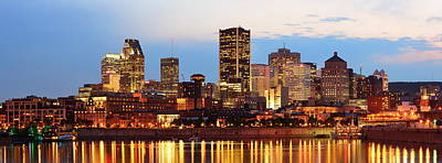 Photograph - Montreal Over River At Dusk  by Songquan Deng