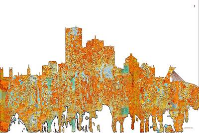 Digital Art - Montreal Que.skyline by Marlene Watson