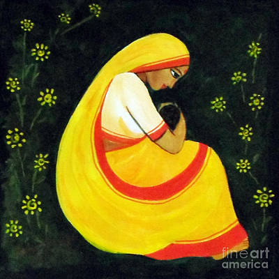 Painting - Mother And Child by Asha Sudhaker Shenoy