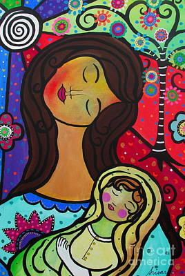 Painting - Mother And Child by Pristine Cartera Turkus