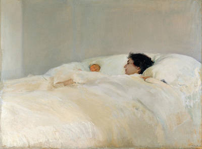 Painting - Mother by Joaquin Sorolla y Bastida