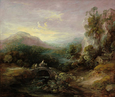 Painting - Mountain Landscape With Bridge by Thomas Gainsborough