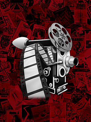 Vintage Camera Mixed Media - Movie Room Decor Collection by Marvin Blaine