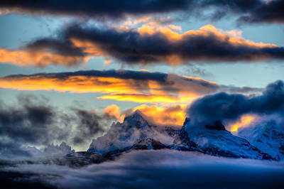 Photograph - Mt. Fitzroy Sunrise by Walt Sterneman
