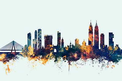 Indian Digital Art - Mumbai Skyline India Bombay by Michael Tompsett
