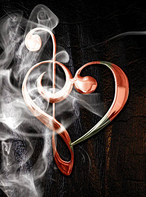 Mixed Media - Musical Heart Collection by Marvin Blaine
