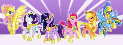 Magician Digital Art - My Little Pony Friendship Is Magic by Maye Loeser