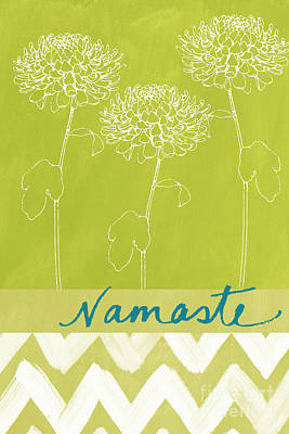 Yoga Painting - Namaste by Linda Woods