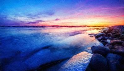 Winter Painting - Nature Landscape Artwork by Margaret J Rocha
